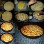 Украшение открытого пирога с ягодами