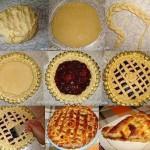 Украшение открытого дрожжевого пирога