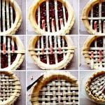 Украшение открытого пирога (плетеное)