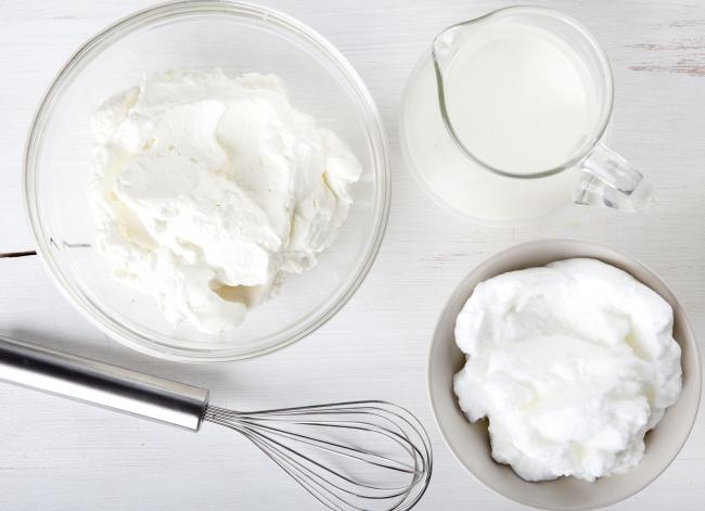 Взбитые сливки с белком в домашних условиях