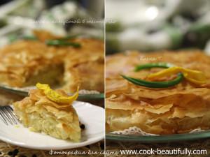 Пирог с капустой из теста фило