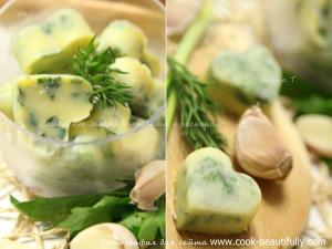 Масло с чесноком и зеленью
