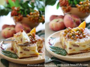 Персиковая шарлотка