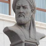 Абу Али Хусейн ибн Абдаллах ибн Сина или Авиценна (980 г. - 1037 г.). Бюст у входа в Национальную библиотеку Таджикистана.