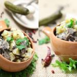 Картофель с грибами в сметане