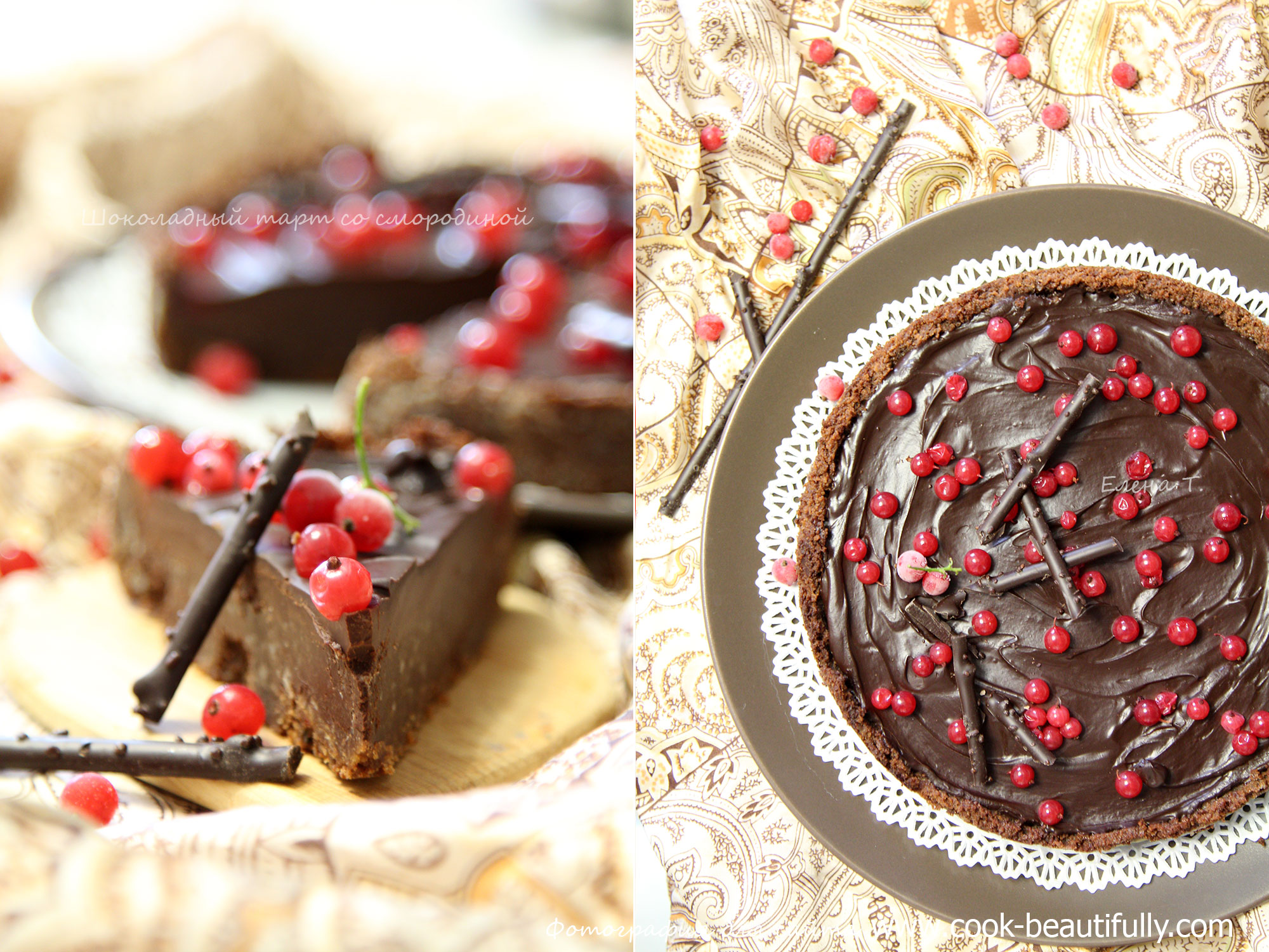 Шоколадный торт с ганашем рецепт пошагово