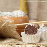 Конфеты трюфель с кунжутом