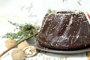 Шоколадный пирог на красном вине
