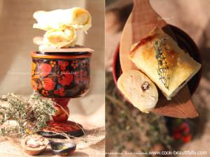 Блины с творогом в духовке под сметанной заливкой