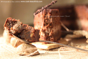 """Шоколадный кекс с инжиром и орехами пекан """"Элла"""""""