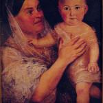 Дарья Пожарская с ребенком на руках. худ. Тимофей Нефф.
