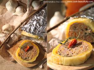 Митлоф с грибами в сыре