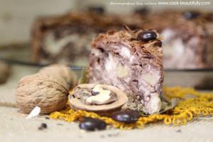 Пирог творожно-шоколадный с бананом