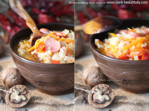 Суп рисовый с лечо