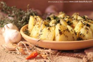 Острый картофель в микроволновке