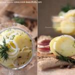 Салат с маринованным картофелем
