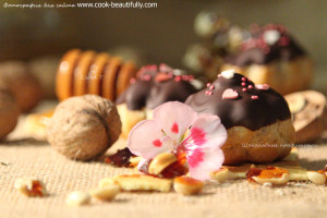 Профитроли шоколадные