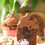Шоколадные капкейки с чернослиивом