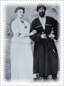 Совместная фотография Сахаровой И.Т. и Бек-Мурзы Байчорова