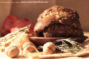 Говядина в духовке в соевом маринаде