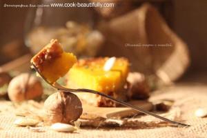 Овсяный пирог с тыквой