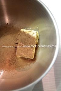 Просеиваем какао вмасло