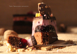 Муссовый торт Черничная нежность